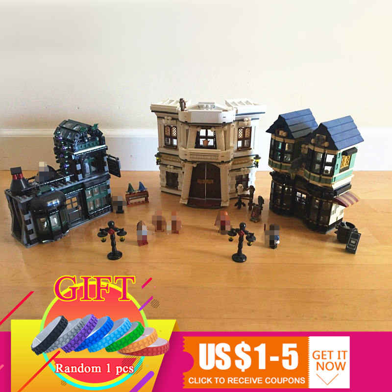 16012 2025Pcs Harry Movie The Potter Diagon Alley Set Compatible with 10217 Building Educational Blocks toys dhl lepin 16012 2025pcs movie series harry potter the diagon alley set 10217 building blocks bricks educational toys