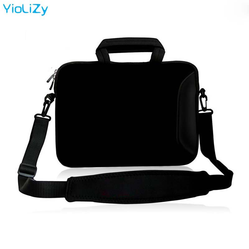 10 11.6 13 13.3 14 15 15.6 17 Briefcase Notebook Sleeve Computer Pure Black Laptop Shoulder Bag For Macbook Air 13 Case SB-3333