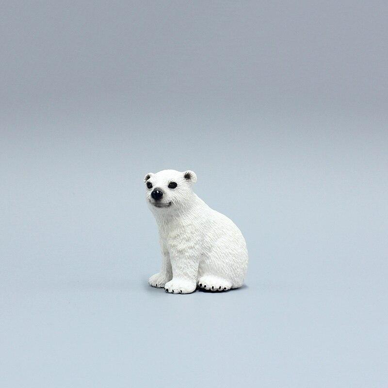 3 см маленькие твердый ПВХ сидя Белый Медвежонок животных модели Фигурки simulational Игрушечные лошадки подарки