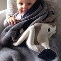 Nuevo invierno niño bebé conejo zorro doble mantas animales de algodón grueso de punto blanket nursery