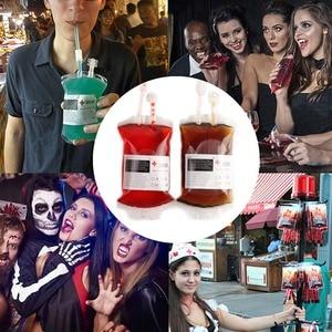 Image 5 - Ourwarm Rõ Ràng Halloween Thực Phẩm Nhựa PVC Cao Cấp Uống Túi Ma Cà Rồng Nhật Ký Cosplay Túi Máu Đạo Cụ Trang Trí Halloween Tiếp Liệu