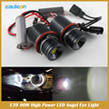 No Error 90W LED Marker Angel Eyes for e39 e60 e61 e63 e64 e65 e66 e87 e53 X5 led E39 angel eyes