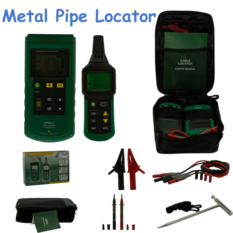 Professional Mastech Wire Cable Tracker Metal Pipe Locator Tester Meter 12~400V Detector MS6818 трассоискатель mastech ms6818