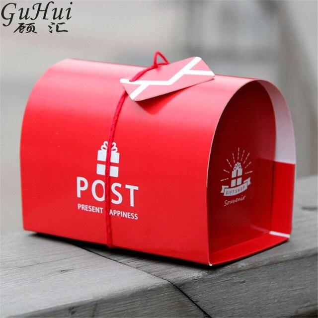 10 Pieces Style Britannique Boite Aux Lettres Rouge Forme Bonbons