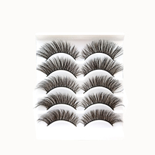 5 Pairs/Pcs New 3D Mink Hair False Eyelashes Natural Thick Long Eye Lashes Women Soft Fake Eyelash Extension Makeup Beauty Tools