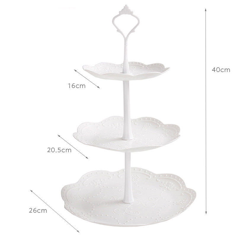 Image 4 - High Quality 3 Tier Cake Stand Tray Decor Round Cupcake Wedding Birthday Party Afternoon Tea Cake Stand-in Storage Trays from Home & Garden