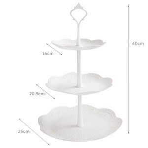 Image 4 - High Quality 3 Tier Cake Stand Tray Decor Round Cupcake Wedding Birthday Party Afternoon Tea Cake Stand