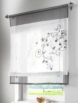 precio para unidades de venta caliente ventana bordado cortina romana persianas para sala de estar