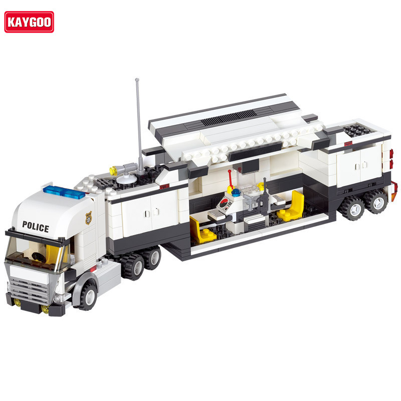 Kaygoo Classic Kids DIY Intelligence Building Blocks bus Birthday Gift Police Station truck City Plane ship Motorcycle Kids Toys building blocks city police station coastal guard swat truck motorcycle learning