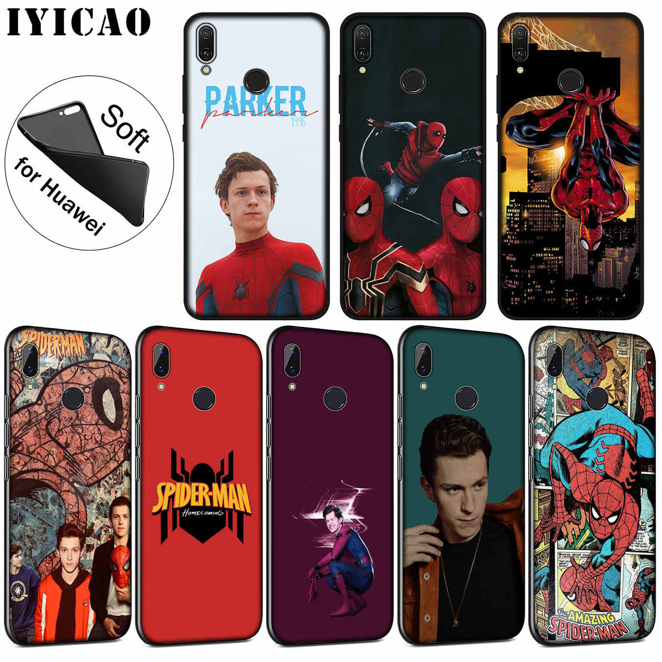 IYICAO Marvel Tom Holland SpiderMan Soft Silicone Case voor Huawei P30 P20 Pro P10 P9 P8 Lite Mini 2017 2016 2015 P smart Z 2019