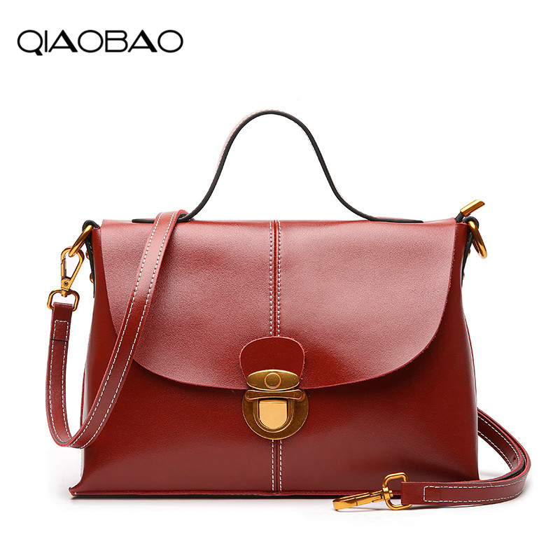 QIAOBAO 2018 Women Bag Big Luxury Elegant Top Handle Bags Hasp Bag Brand Women Designer Handbags 100% Genuine Leather Female Bag блок питания exegate atx 450npxe pfc 450w black 221637