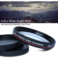 0.45x Professional Wide Angle Conversion Lens 49/52/55/58/62/67/72/77mm Filter Lens Kit for Nikon Canon Pentax Sony Camera