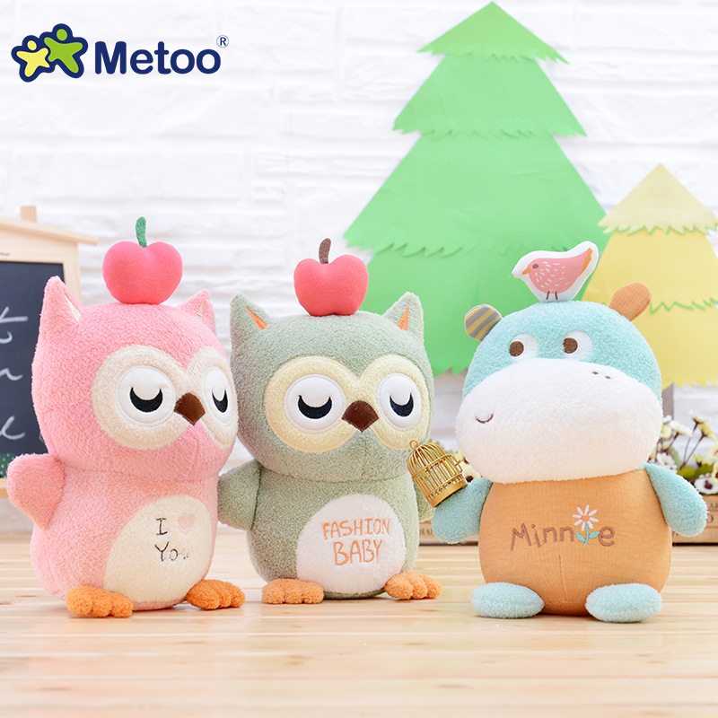 Metoo Cartoon Animal Plush Doll Creative Stuffed Toys Soft Material Cute Kawaii Baby Kids Toy Children Girlfriend Birthday Gift 4 colors pusheen plush cute soft animal toy giraffe plush doll birthday gift toys for children 18cm baby dolls free shipping