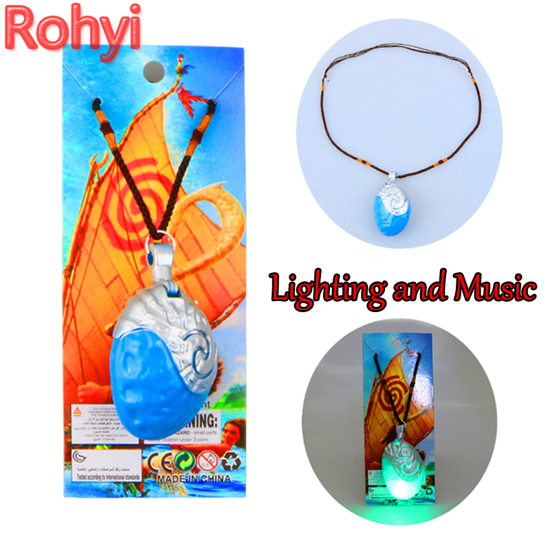 Toys & Hobbies Aggressive Rohyi Movie Moana 5cm Necklace Key With Lighting And Music Ring Pendant Anime Figures Action & Toy Figures Anime Figure Toys Be Novel In Design