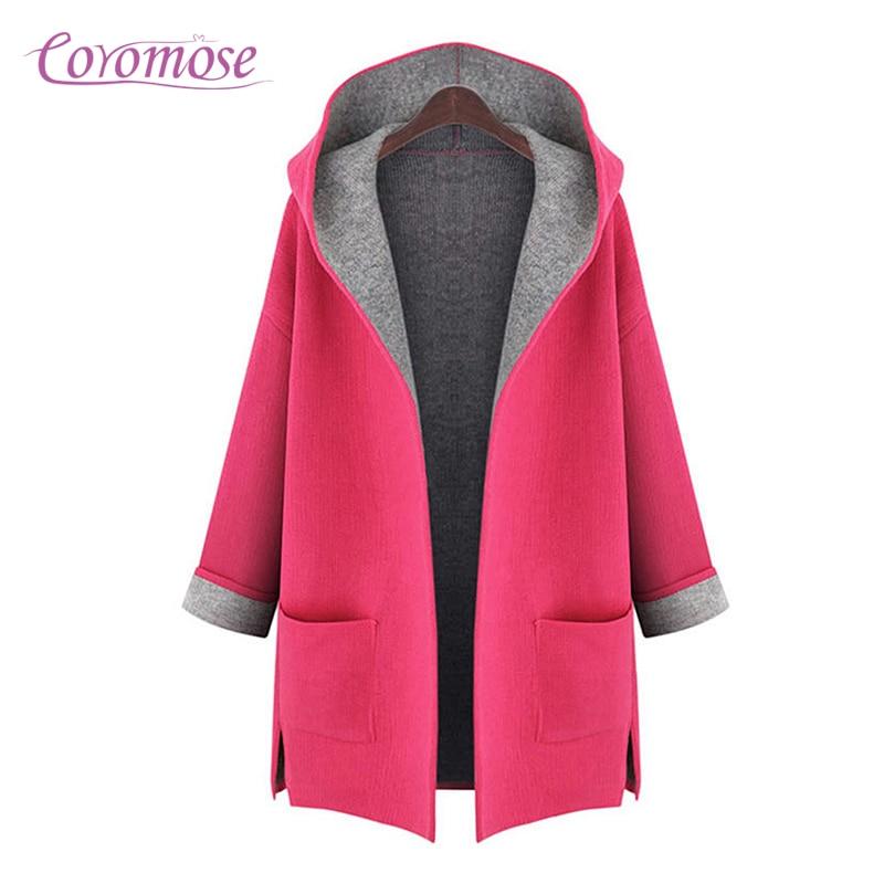 Aliexpress.com : Buy Coromose 2017 Hooded Wool Coat Woman Loose ...