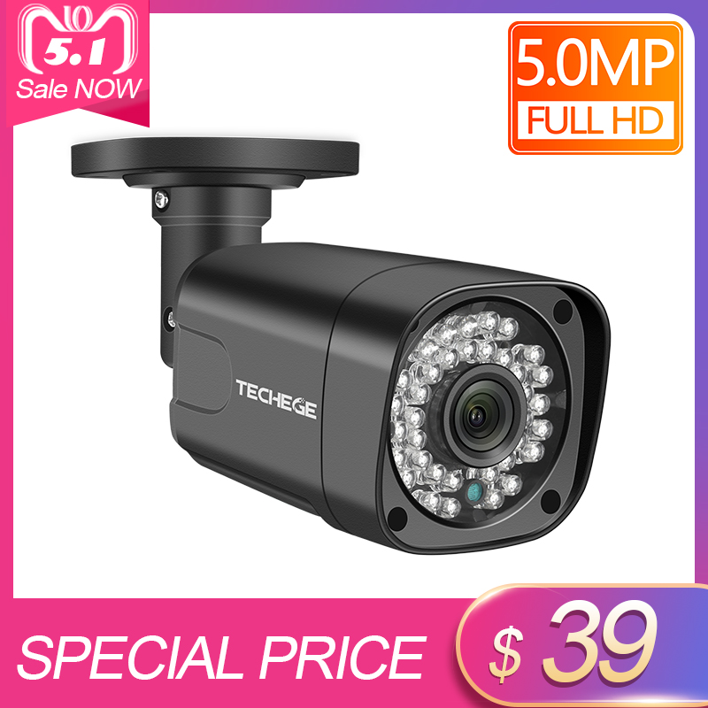 Techege HD 5MP POE IP Camera Outdoor Waterproof Infrared Night Vision Onvif FTP Email Alarm CCTV Video Surveillance SecurityTechege HD 5MP POE IP Camera Outdoor Waterproof Infrared Night Vision Onvif FTP Email Alarm CCTV Video Surveillance Security