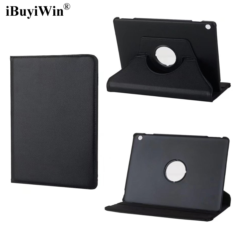 iBuyiWin 360 Rotating Case for Huawei MediaPad M3 Lite 10 BAH-W09 BAH-AL00 10.1 Tablet Case Folding PU Leather Stand Cover+Film luxury pu leather cover business with card holder case for huawei mediapad m3 lite 10 10 0 bah w09 bah al00 10 1 inch tablet