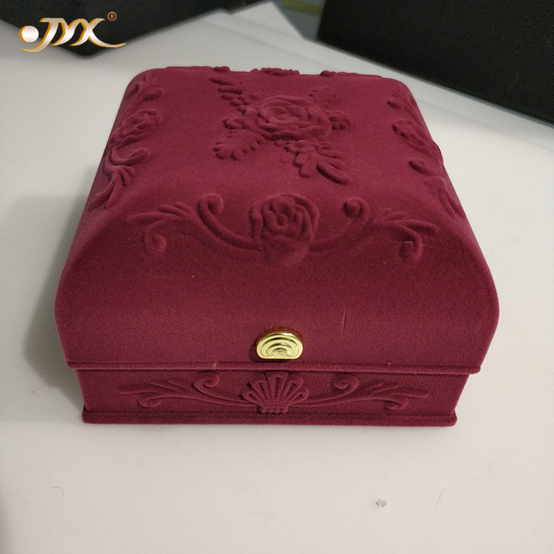 JYX Exquisite Velvet Jewelry Box Velvet Material For Women's Day And Mother's Day Gift To Your Beloved Lover And Family