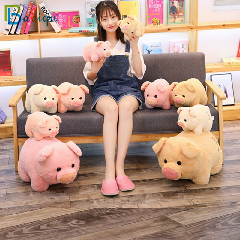 1PC 55cm Super Kawaii Fat Pig Baby Appease Toys Stuffed Cute Animal Doll for Kids Soft Pillow Cushion Lovely Christmas Gift 1pc 55cm cute fat shiba inu dog plush pillow stuffed soft cartoon animal toys lovely kids baby children christmas gift dolls