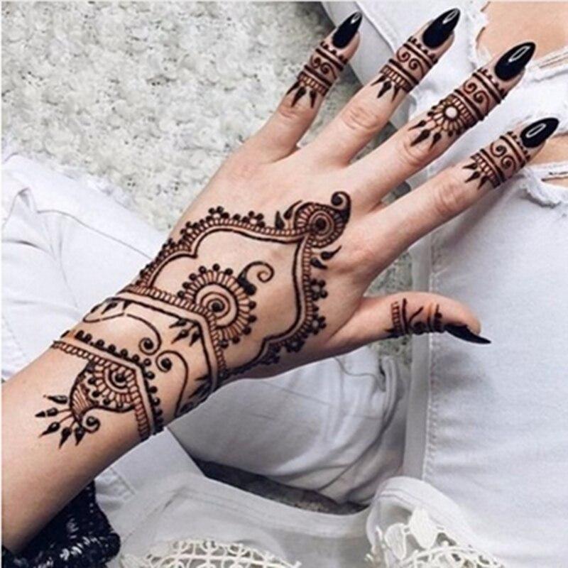 12pcs/SET 25g Natural Black Body Paint Art Mehndi Henna Cones Indian ...