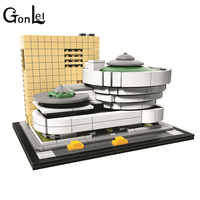 GonLeI 10679 Architecture Series The Guggenheim Museum Model Building Blocks Compatible Legoings 21035 Classic House Toys