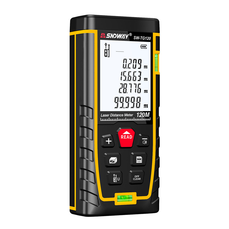SNDWAY Laser Distance Meter 40-120M with LCD and Auto Power Off to Measure Wide Range Area 29
