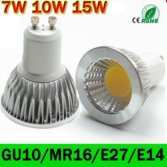 produs led lamp gu10 led spotlight dimmable cob led bulb 7w 10w 15w warm white white 110v 220v. Black Bedroom Furniture Sets. Home Design Ideas