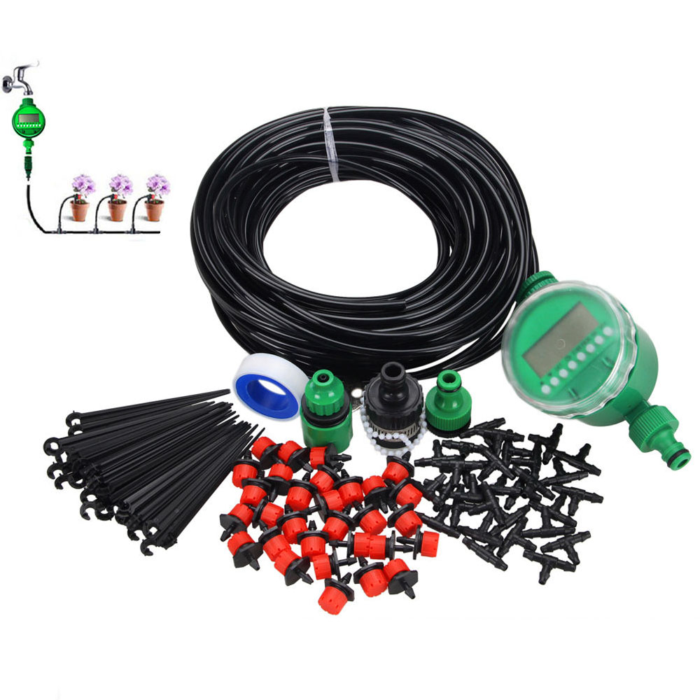 46M Automatic Drip Irrigation System Kit Timer Micro Sprinkler Garden Watering