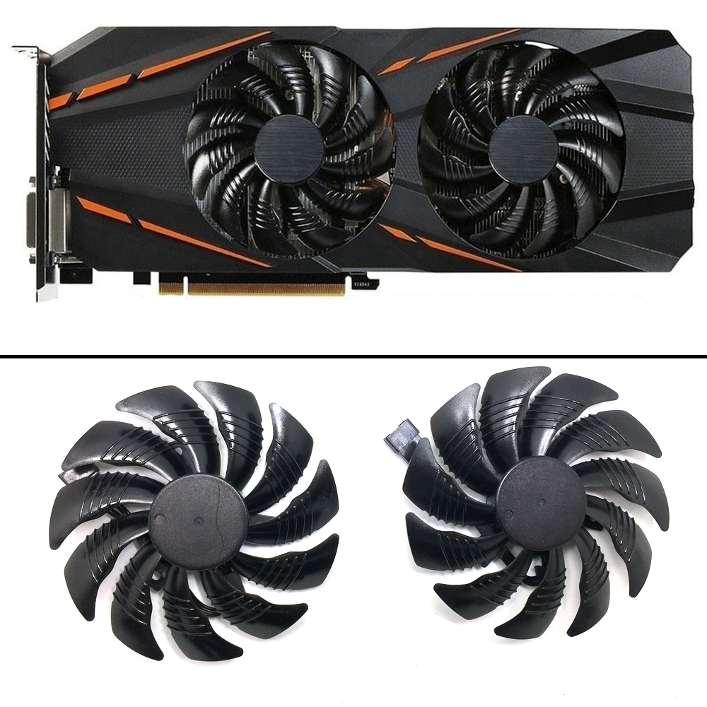 new 85mm PLD09210S12HH video card fan For Gigabyte GTX 1050 1060 1070 960 RX 470 480 570 580 Graphics Card Cooler Fan-in Laptop Cooling Pads from Computer & Office