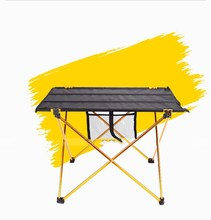 Cheapest ! 30PCS/LOT Aluminium Alloy Picnic Table Waterproof Ultra-light Durable Folding Table Desk For Outdoor Camping Picnic