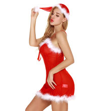 1970eeffa2 (Ship from US) FEITONG Sexy Christmas Lingerie Women Santa Claus Costume  Cosplay Babydoll Nightwear Underwear Erotic Lingerie