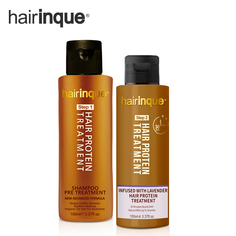 HAIRINQUE 100ml lavender 12% brazilian keratin hair treatment set hair treatment for damaged / curly hair best hair care product image