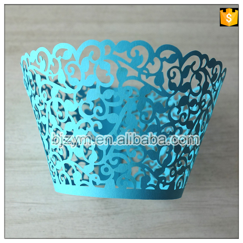 Free Shipping Vine Design Paper Bakery Kitchen Accessories Cupcake Baking Cups Holder Wrappers 24 Pcs For