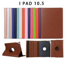 2017 new Cover For Apple iPad Pro 10.5 inch Case PU Leather Flip Smart Stand 360 Rotating Case Cover