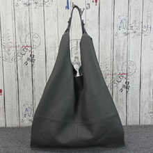 Vintage Casual Genuine Leather Cowhide Women One Shoulder Bags Handbags Hobo Tote Bag Slouchy Large Shopping Bag Female Purse