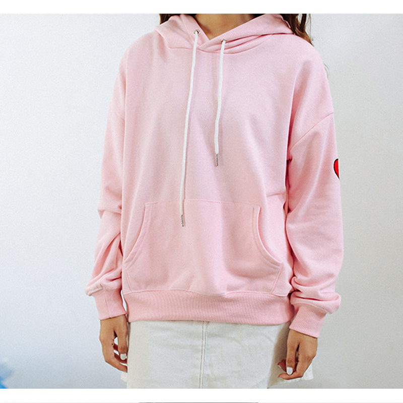 2347e779 Korea Shopping spring autumn Harajuku women College Wind leisure of the  alphabet pattern embroidery hooded sweatshirt lovers-in Hoodies &  Sweatshirts from ...