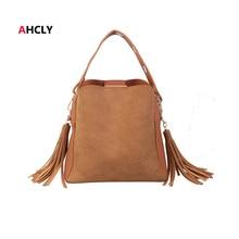 Women Tassel Bucket Bag Vintage Shoulder Messenger Bags Large Capacity Ladies Handbags Simple Crossbody Bag Tote Wholesale Price цена в Москве и Питере