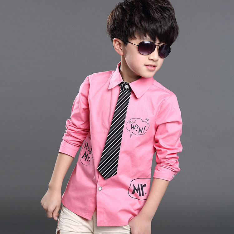 Aliexpress.com : Buy 2017 New Letter Printed Kids Formal Shirts ...