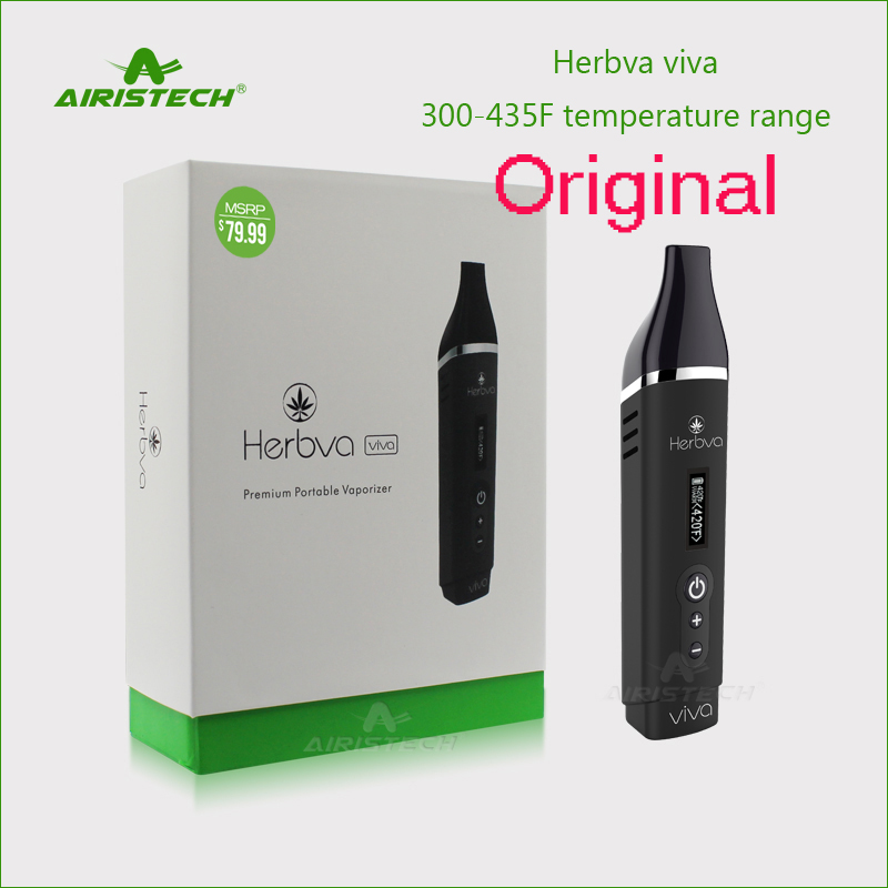 цена Original Airistech Herbva Viva vaporizer 2200mah battery Vapor Dry Herb electronic cigarette Baking vape Pen Wax