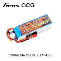 Gens Ace Lipo Battery 3S 5200mAh Lipo 11 1V Battery Pack 3 5mm Banana Connector 10C