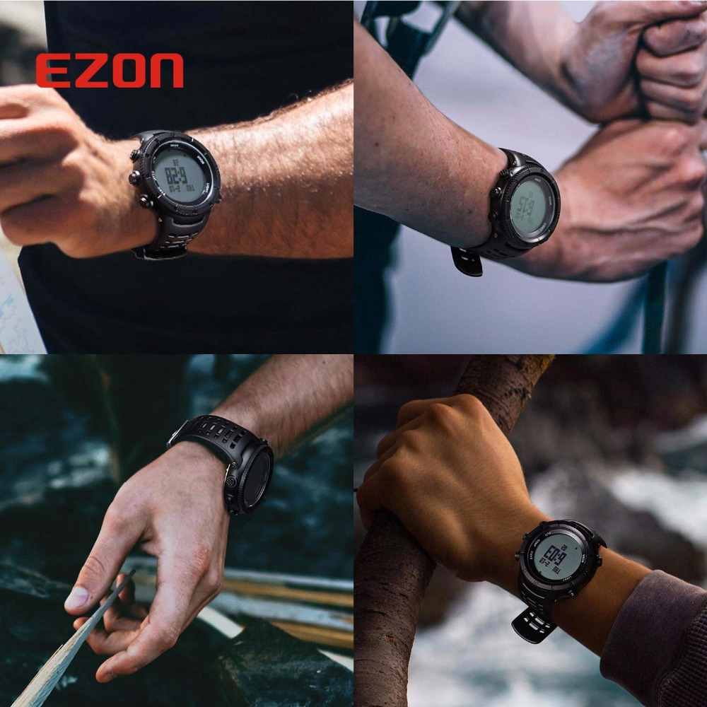 Image 5 - New EZON Multifunctional Hiking Watch Mens Sport Digital Watch  Hours Altimeter Barometer Compass Thermometer Climing  Wristwatchwristwatch digitalwristwatch menswristwatch compass -