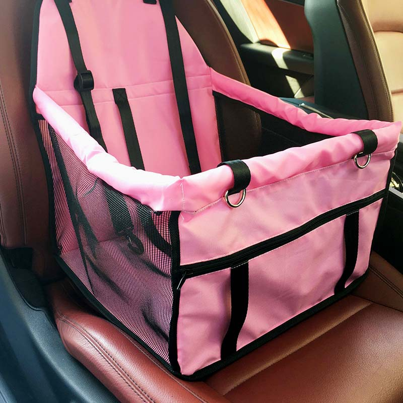 black Easylifer Cat Puppy Pet Car Seat Carrier Travel Carrier Bag Cage Deluxe Portable with Clip-On Safety Leash and Zipper Storage Pocket Pet Dog Car Booster Seat