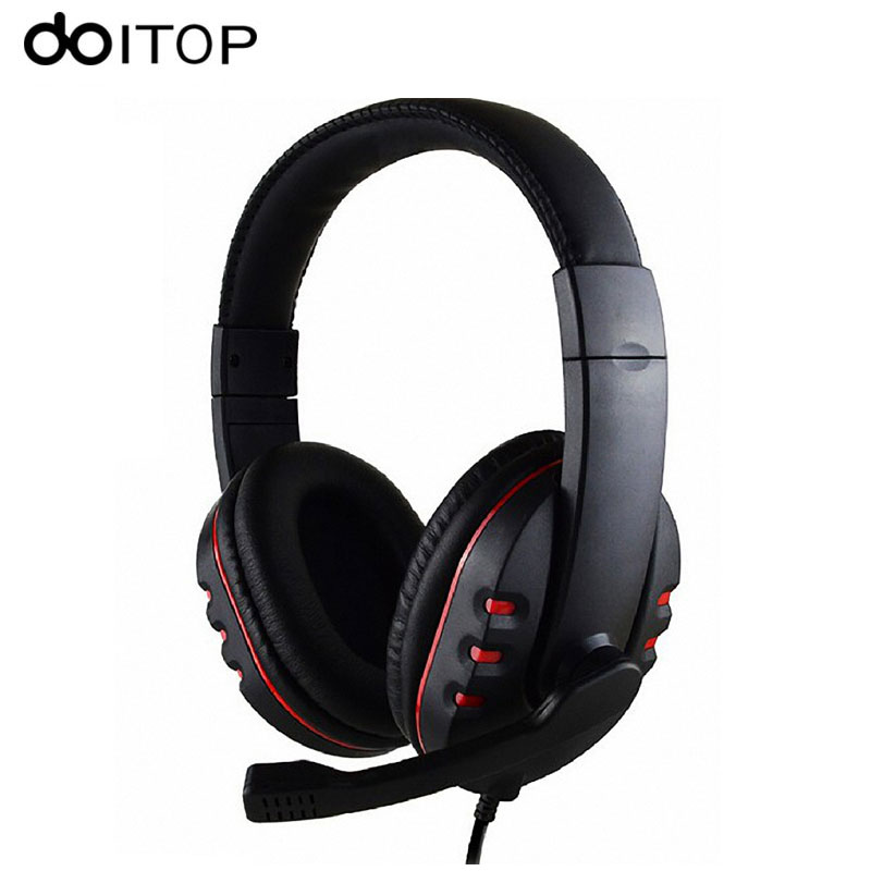 DOITOP 3.5mm Wired Game Headphone Stereo Headband headset Hand-free Games Earphones with Mic Gaming Headset For PS4 PC Mac #3