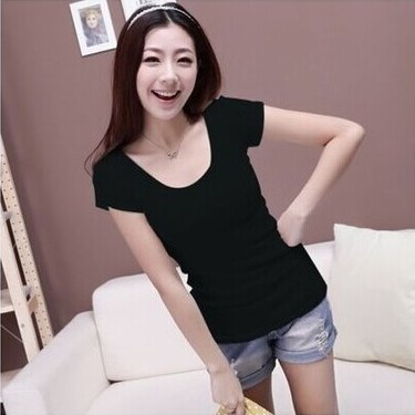 HTB17pz4GVXXXXaAapXXq6xXFXXXi - Summer Casual T Shirt Women Tops Fashion Slim Female Short-Sleeve