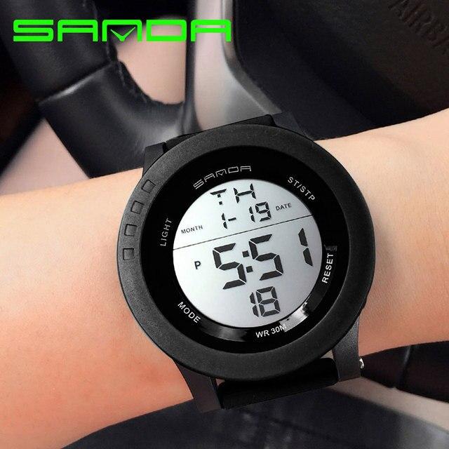 Сандалии бренд 2018 LED цифровые часы Для женщин Часы женские спортивные наручные часы электронные часы женские часы Montre Femme Relogio feminino