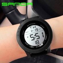 Sanda marque 2017 led numérique montre femmes montres dames sport montre-bracelet électronique horloge femme montre femme relogio feminino