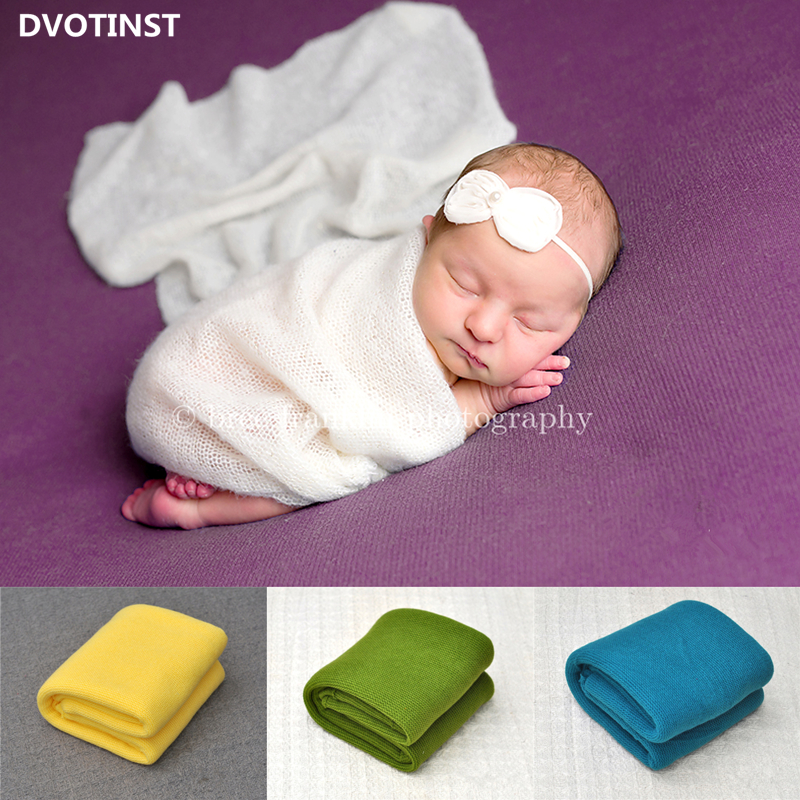 Dvotinst Newborn Photography Props Crochet Background Blanket Backdrop Mat Basket Filler Fotografia  Studio Shoot Photo Props