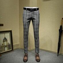 Мужские модельные брюки обтягивающий официальный деловой 20% шерсть высокого качества материал зимний модный костюм брюки свадебная одежда жениха День отца