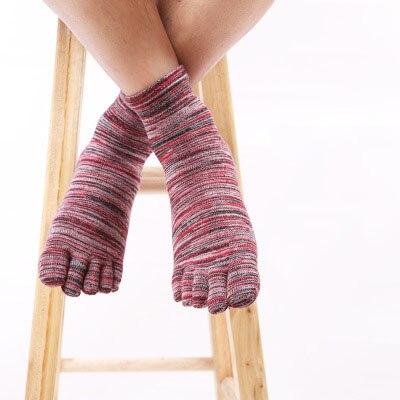 Men's short boat socks Autumn new men's socks Lined retro five finger socks cotton comfortable toe socks
