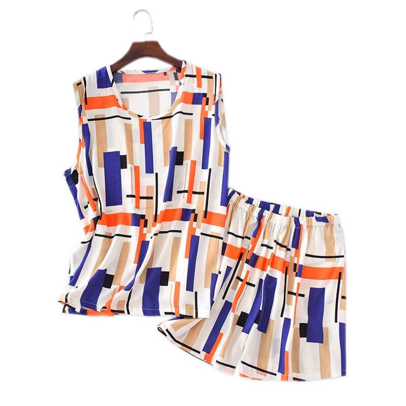 Sexy fashion Rayon vest women short   pajamas     sets   summer Korea fresh women sleeveless shorts suits sleepwear women